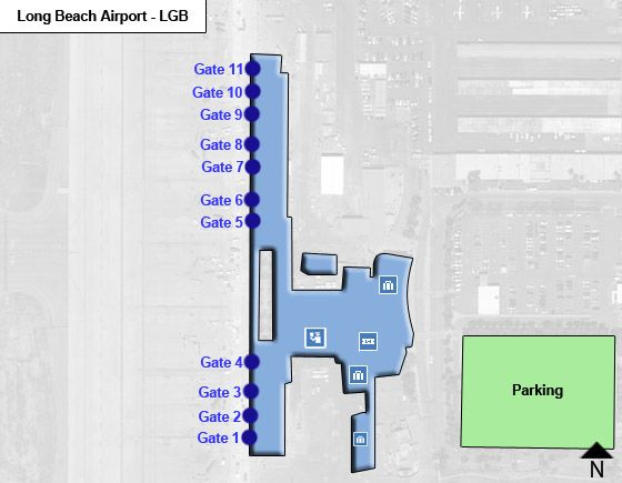 Long Beach LGB Terminal Map