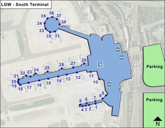 London Gatwick LGW Terminal Map