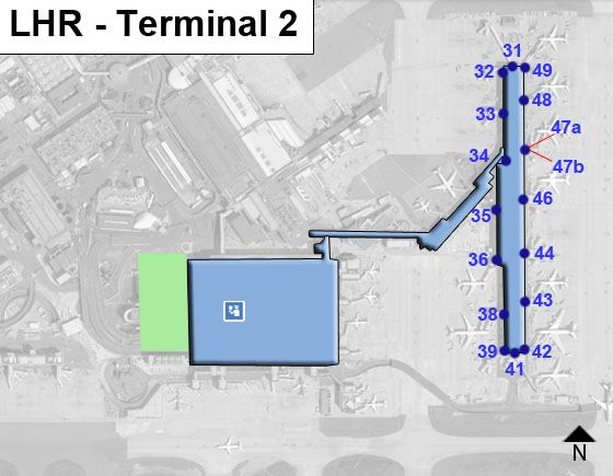 London Heathrow Airport LHR Terminal 2 Map