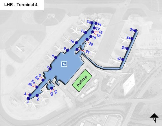 Harlington, Hayes, Middlesex Airport Terminal 4 Map