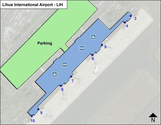 Kauai Lihue LIH Terminal Map