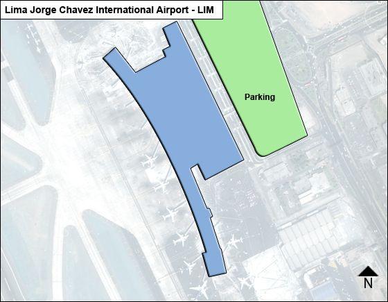 Lima Jorge Chavez LIM Terminal Map