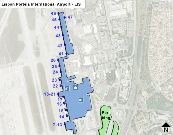 Portela Airport Overview Map