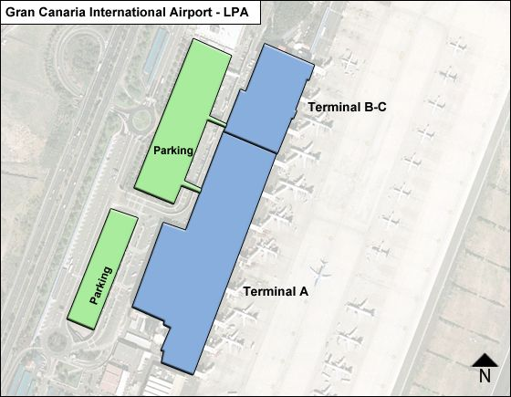 Gran Canaria / Las Palmas Airport Overview Map