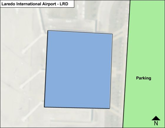Laredo Airport Overview Map