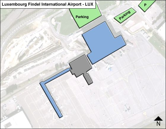 Luxembourg Findel LUX Terminal Map