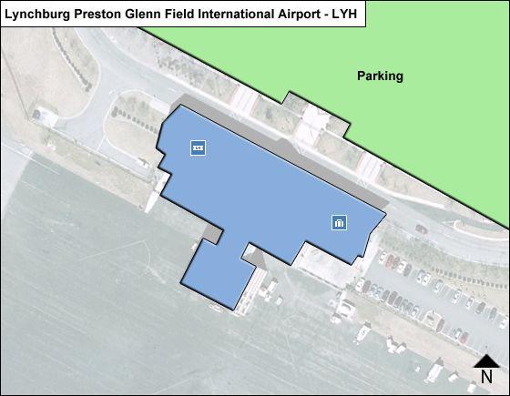 Lynchburg Preston Glenn Field LYH Terminal Map