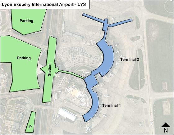 map of lyon airport Lyon Exupery Lys Airport Terminal Map map of lyon airport