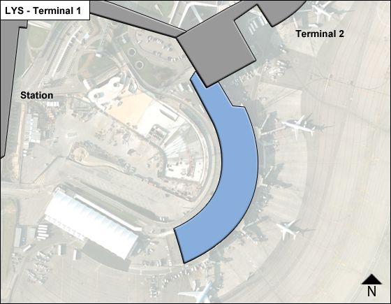 Lyon-Saint Exupery Aeroport Airport Terminal 1 Map
