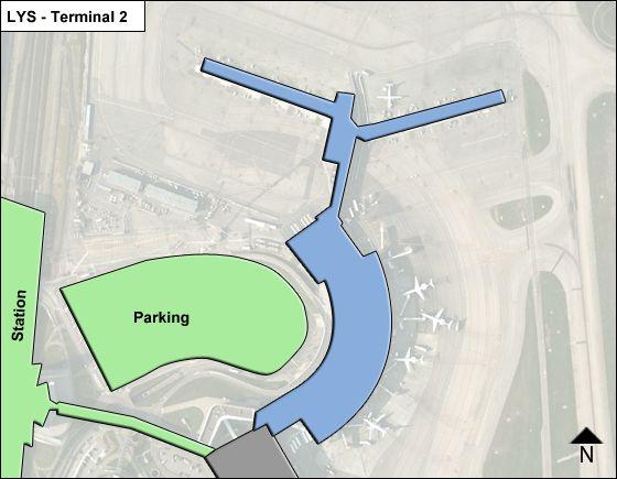 Lyon-Saint Exupery Aeroport Airport Terminal 2 Map