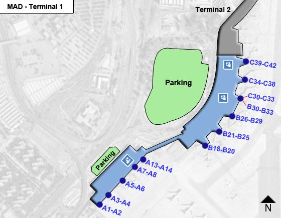 Madrid Airport Terminal 1 Map