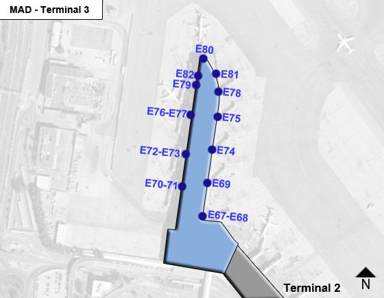 Madrid Barajas MAD Terminal Map