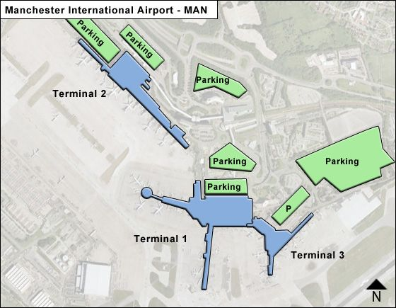 Manchester Airport T3 Parking >> Manchester Man Airport Terminal Map