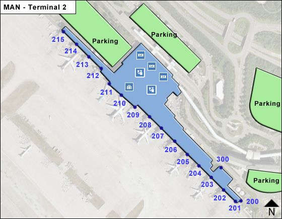 Manchester MAN Terminal Map