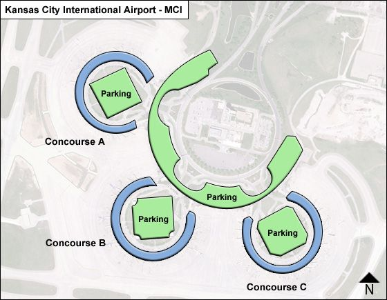 Kansas City Airport Map Kansas City MCI Airport Terminal Map
