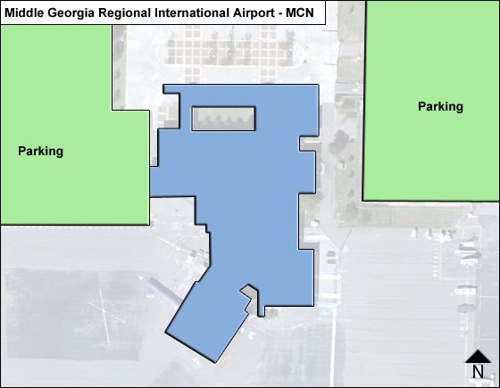 Middle Georgia Regional MCN Terminal Map