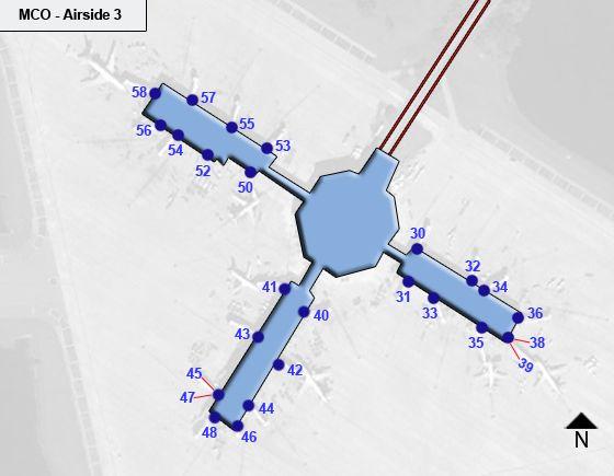 Orlando MCO Terminal Map