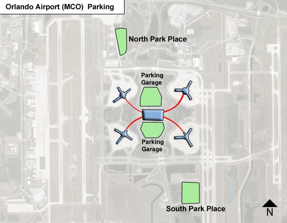 Orlando MCO airport parking map