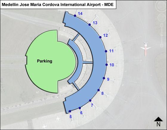 Medellin Jose Maria Cordova MDE Terminal Map