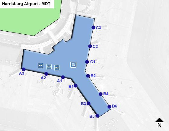 Harrisburg MDT Terminal Map