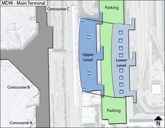 Chicago Airport Main Terminal Map