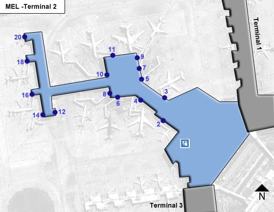 Melbourne MEL Terminal Map