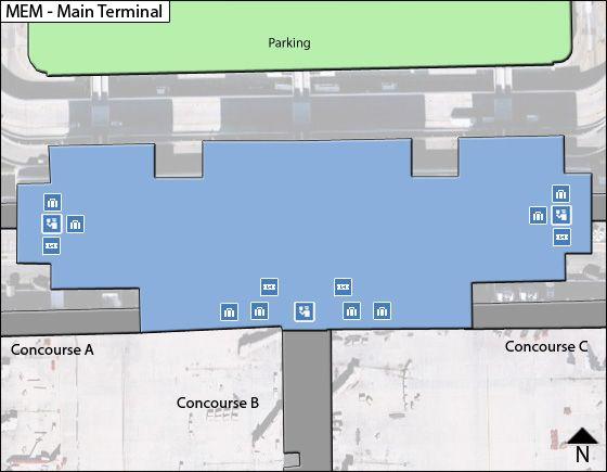 Memphis Airport Main Terminal Map