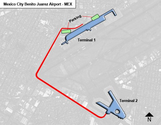 Mexico City Benito Juarez MEX Terminal Map