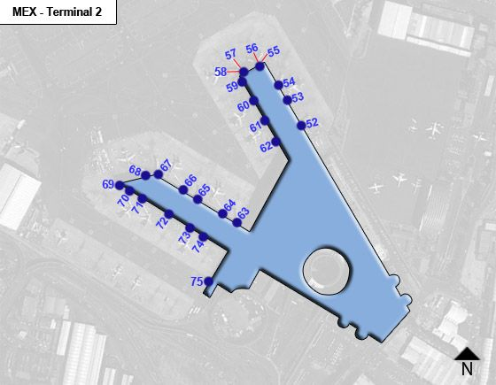 Carranza Airport Terminal 2 Map