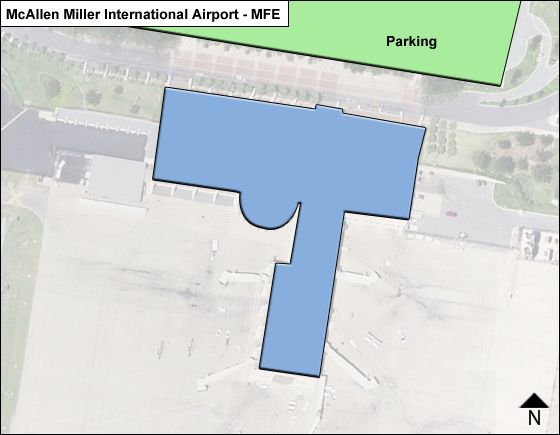 McAllen Airport Overview Map