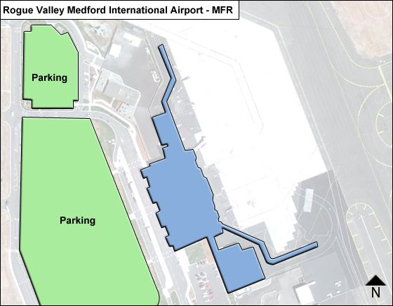 Rogue Valley Medford MFR Terminal Map