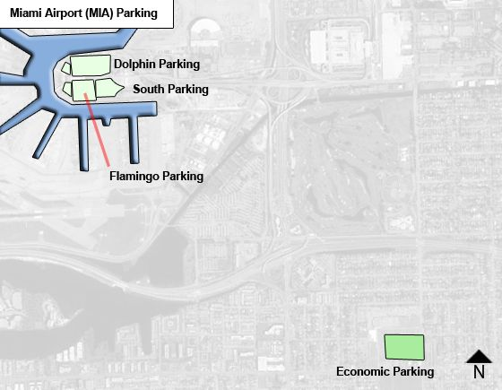 Miami MIA airport parking map