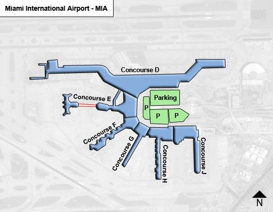 Miami MIA Airport Terminal Map