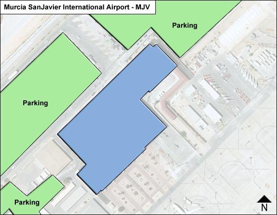 Murcia SanJavier MJV Terminal Map