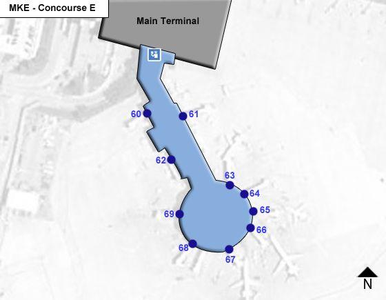 Milwaukee Airport Concourse E Map
