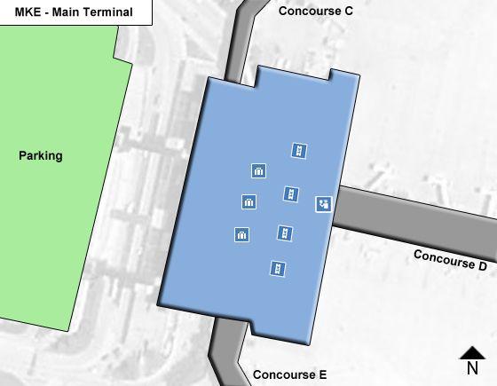 Milwaukee Airport Main Terminal Map