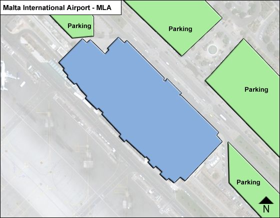 Malta International MLA Terminal Map