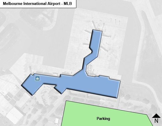 Melbourne MLB Airport Terminal Map
