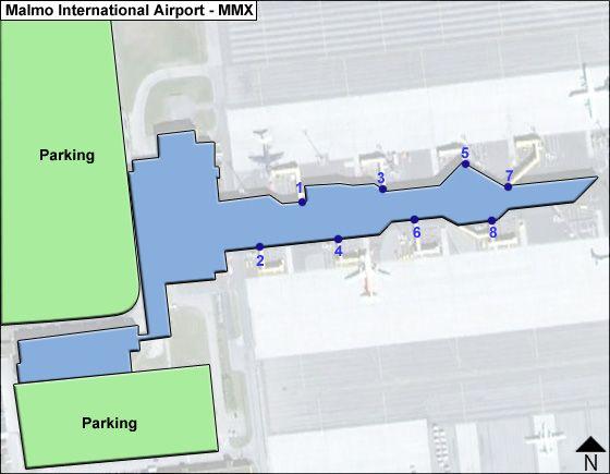 Malmo MMX Terminal Map