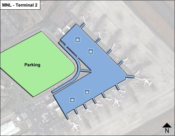 Pasay  Airport Terminal 2 Map