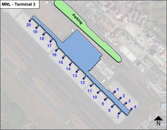 Pasay  Airport Terminal 3 Map