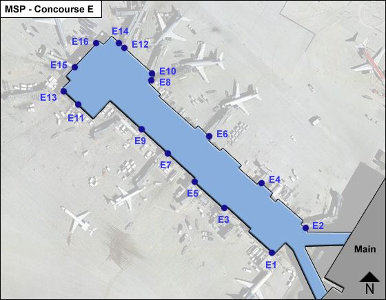 St. Paul Airport Concourse E Map
