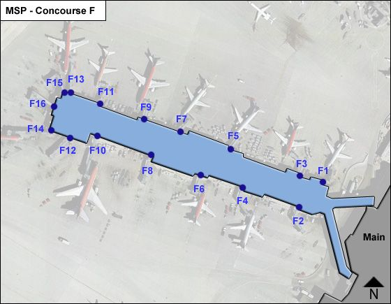 St. Paul Airport Concourse F Map
