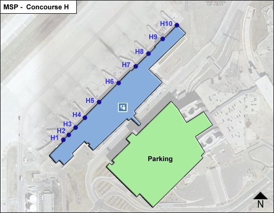 St. Paul Airport Concourse H Map