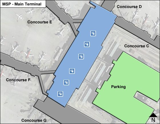 St. Paul Airport Main Terminal Map