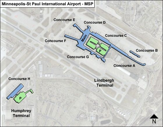 Mpls Airport Map Minneapolis St Paul MSP Airport Terminal Map