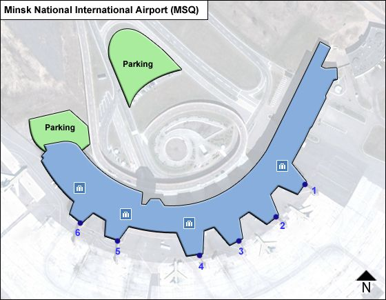 Minsk National MSQ Terminal Map