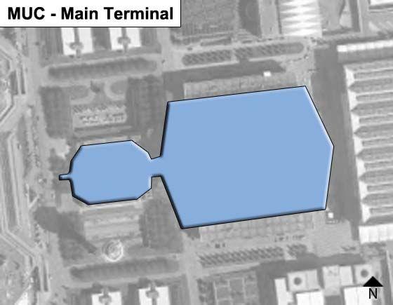 Oberding, Bavaria Airport Main Terminal Map