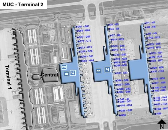 Munich MUC Terminal Map