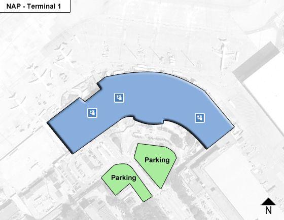 Capodichino District Airport Terminal 1 Map